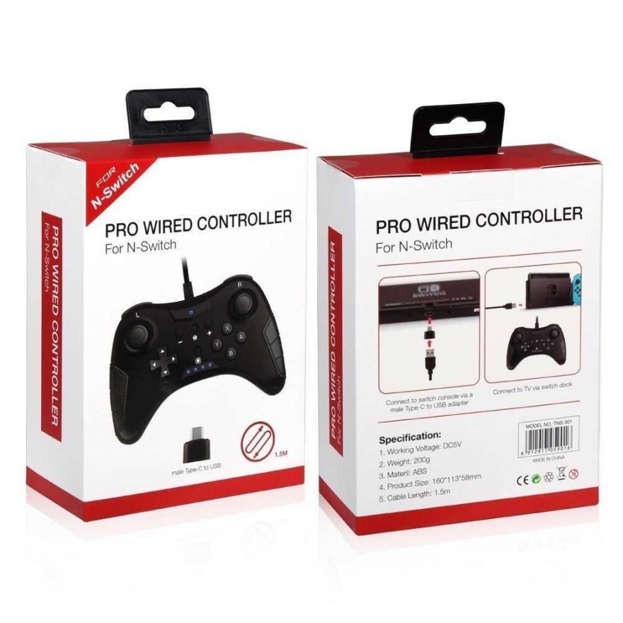 Геймпад проводной Pro Wired Controller Dobe TNS-901 (Nintendo Switch)
