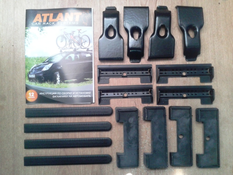 Адаптеры для багажника Mitsubishi ASX 2010-..., Mitsubishi Outlander 2012-..., без рейлингов, Атлант, артикул 7150
