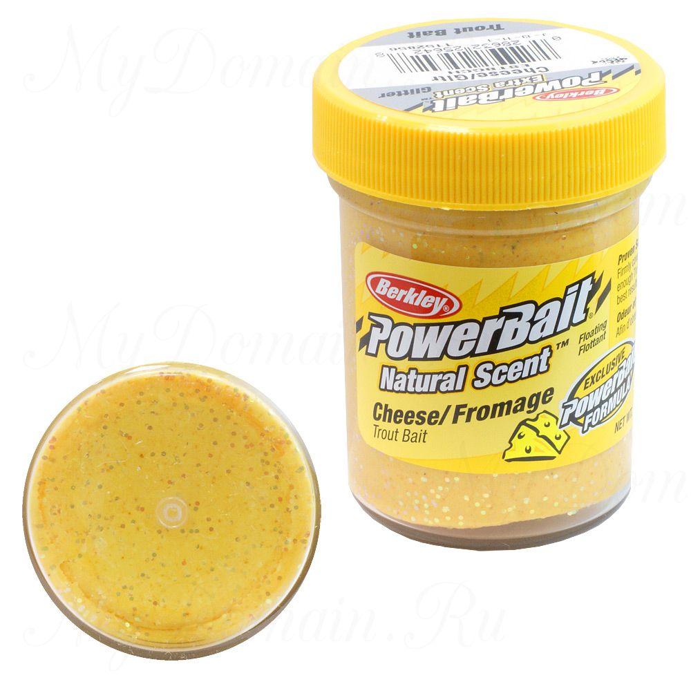 ФОРЕЛЕВАЯ ПАСТА BERKLEY POWERBAIT TROUTBAIT CHEESE Glitter (сыр)