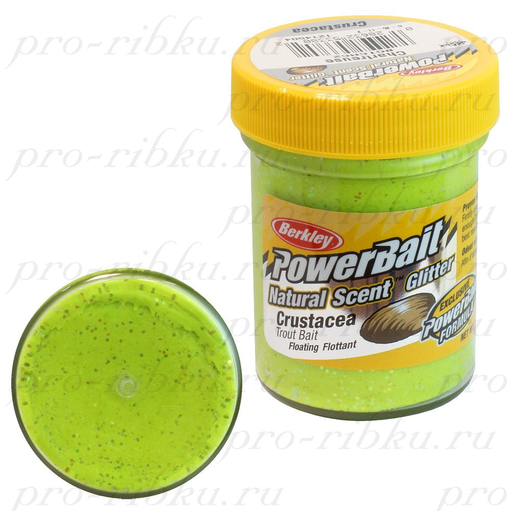ФОРЕЛЕВАЯ ПАСТА BERKLEY POWERBAIT TROUTBAIT CRUSTACEA Chartreuse (краб)