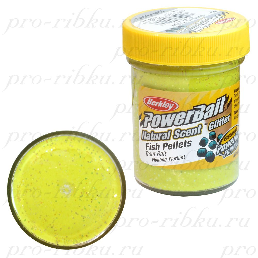 ФОРЕЛЕВАЯ ПАСТА BERKLEY POWERBAIT TROUTBAIT FISH PELLET, цв. Sunshine Yellow (пеллетс)