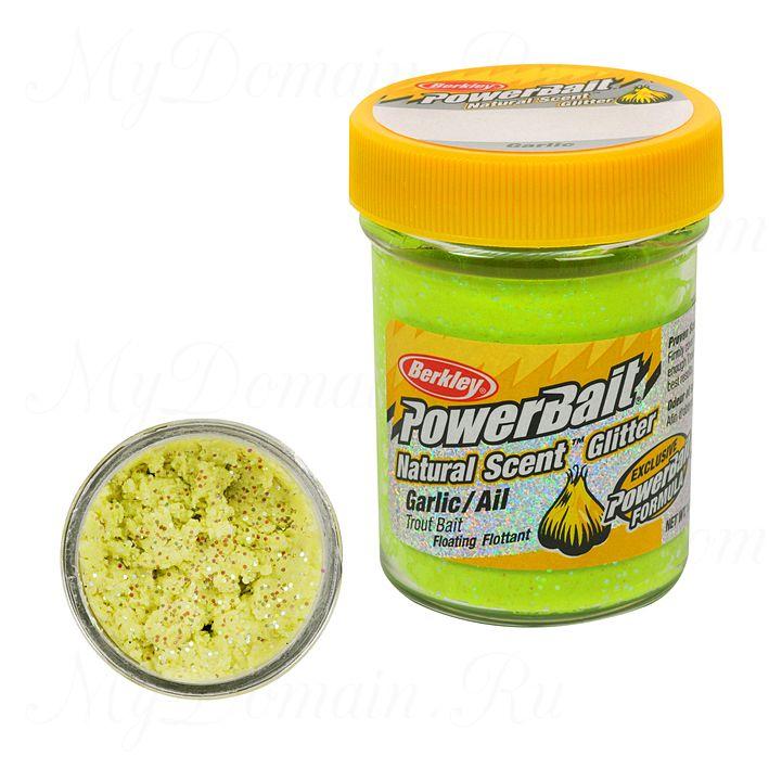 ФОРЕЛЕВАЯ ПАСТА BERKLEY POWERBAIT TROUTBAIT GARLIC/AIL, цв. Chartreuse (чеснок)