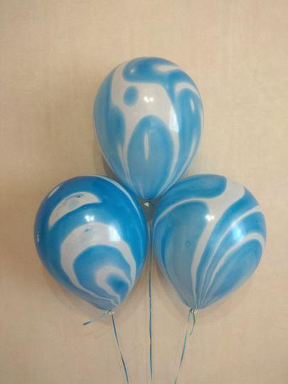 Агат синий латексные шары с гелием