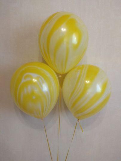 Агат желтый латексные шары с гелием