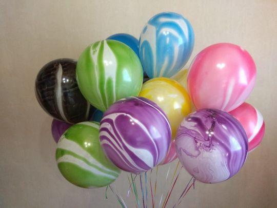 Агаты ассорти латексные шары с гелием