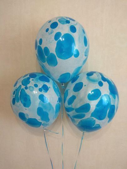 Голубой Оникс латексные шары с гелием