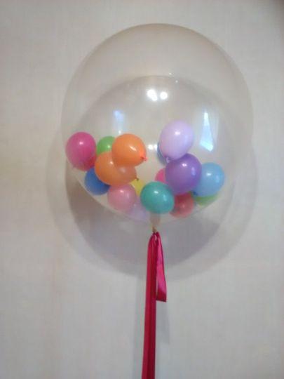 Метровый шар с 25 маленькими шариками внутри