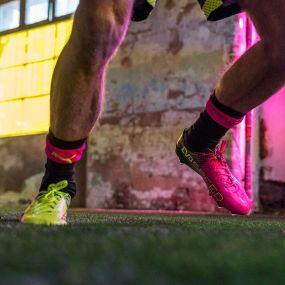 Бутсы Puma evoSpeed 1.5 Tricks FG жёлто-розовые