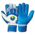 Вратарские перчатки Uhlsport Eliminator Aquasoft Outdry сине-белые