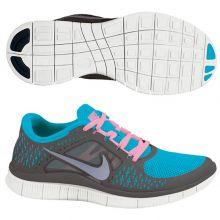 Женские кроссовки Nike Free Run+ тёмно-серые