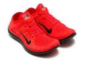 Кроссовки Nike Free 4.0 Flyknit красные