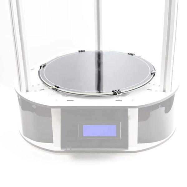 Стекло круглое для стола 3D принтера, диаметр 200 мм, толщина 4мм, шлифованное