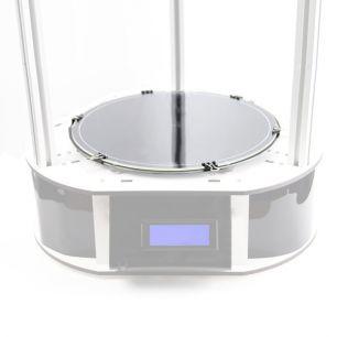 Стекло круглое для стола 3D принтера, толщина 4 мм, шлифованное