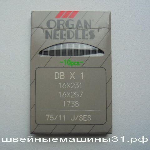 Иглы DB х 1 J / SES  № 75, для трикотажа 10 шт. цена 150 руб.