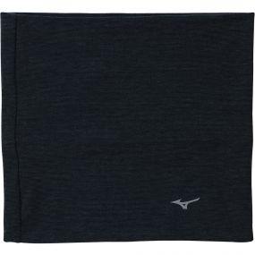 Тёмно-серая повязка на шею Mizuno breath thermo neck warmer panel