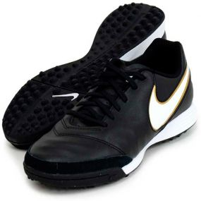 Шиповки-сороконожки Nike Tiempo Genio II Leather TF чёрные