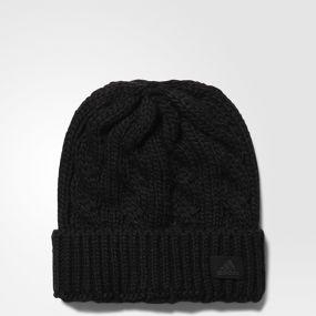 Женская шапка adidas Wool Beanie чёрная
