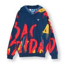 Женская толстовка adidas Paris printed hoodie синяя