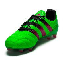 Кожаные бутсы adidas Ace 16.1 Leather FG/AG салатовые
