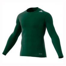 Термокофта adidas Techfit Base с длинным рукавом зелёная