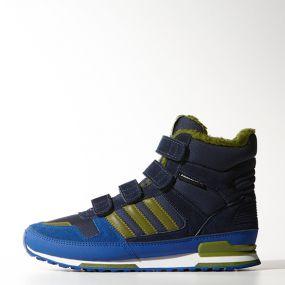 Детские ботинки adidas ZX Winter Comfort Kids синие