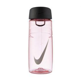 Бутылка Nike T1 flow swoosh 16oz спортивная розово-серая
