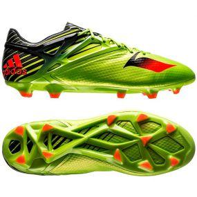 Бутсы adidas Messi 15.1 FG/AG салатово-чёрные