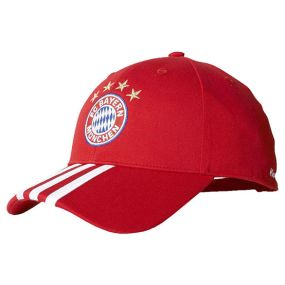 Бейсболка adidas Fussball Club Bayern 3 Stripes Cap красная