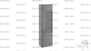 Шкаф-витрина для посуды Наоми ТД-208.07.25 (54,4×34х195)