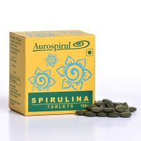 Спирулина в таблетках Ауроспируль Ауровиль   Aurospirul Spirulina Tablets
