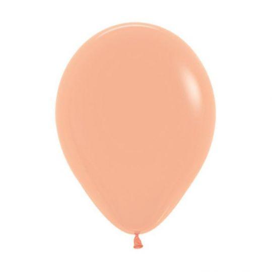 МИНИ шар персиковый маленького размера с гелием