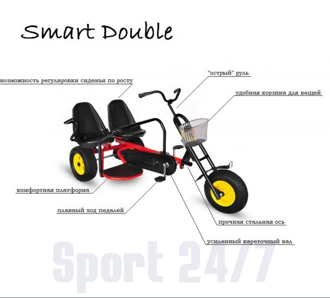 веломобиль двухместный Smart Double