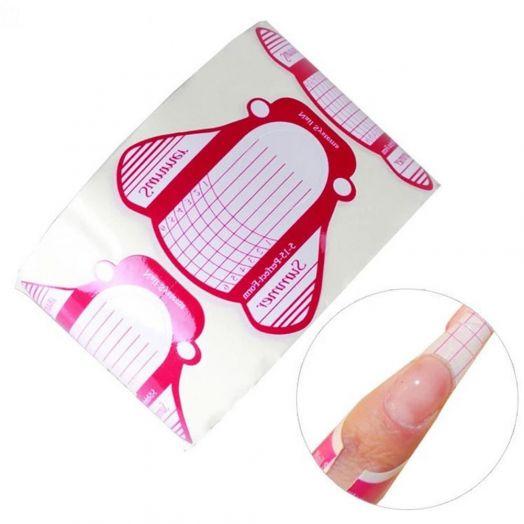 ФОРМЫ для ногтей широкие 500 шт, розовые