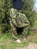 Штаны алладины и афгани из камуфляжа, демисезонный вариант. Коллекция Инд-Базар, зелёный камуфляж