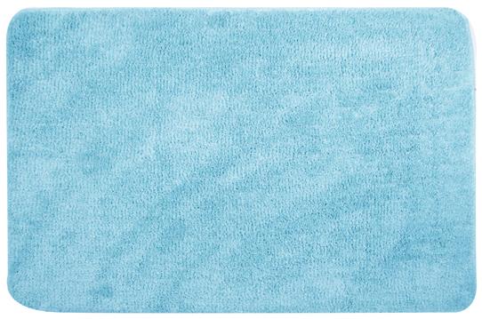 Коврик для ванной комнаты 50 х 80 см голубой
