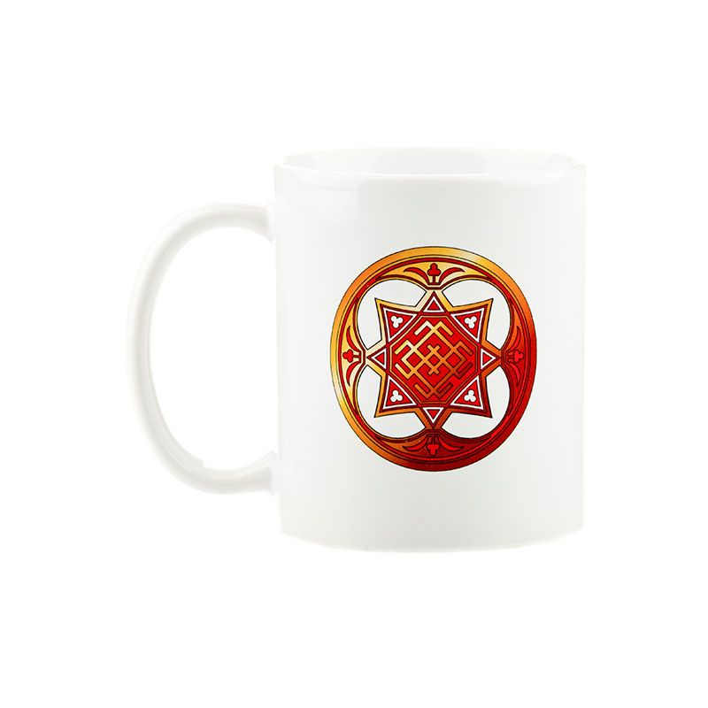 """Коллекционная сувенирная кружка с обережным символом """"Белобог"""""""