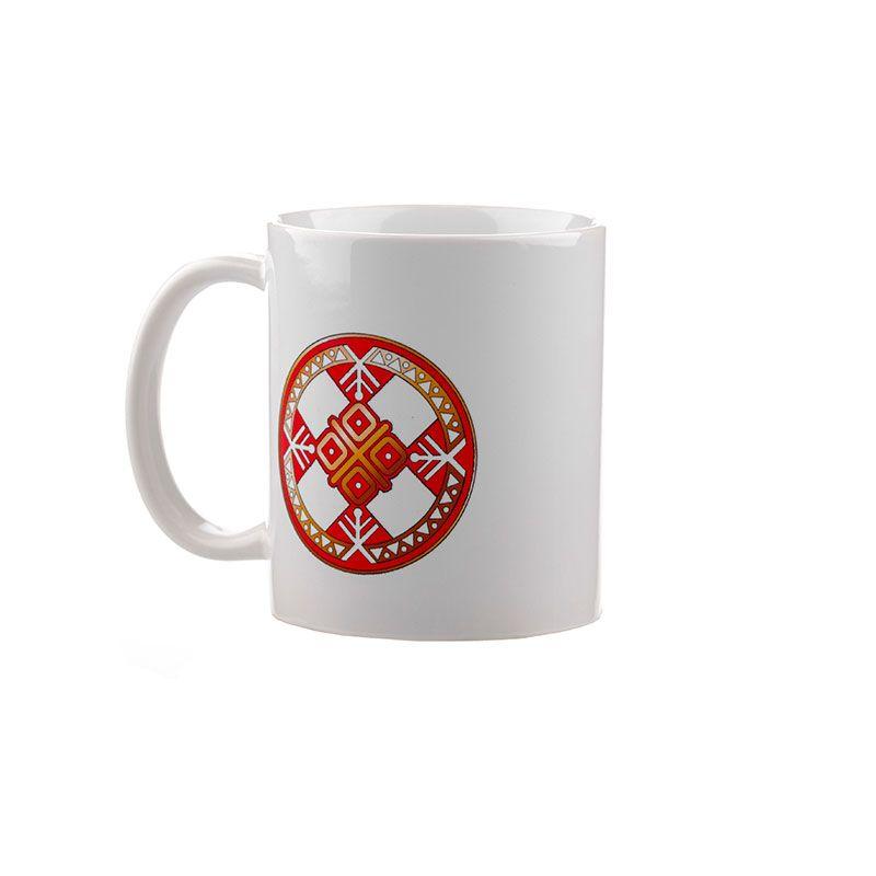 """Коллекционная сувенирная кружка с обережным символом """"Макошь"""""""