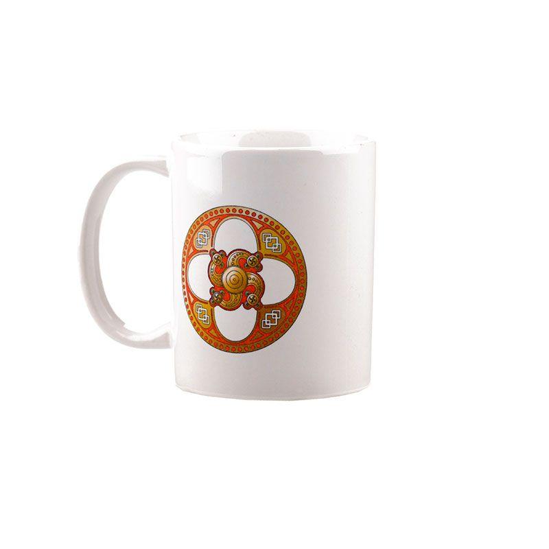 """Коллекционная сувенирная кружка с обережным символом """"Сварожич"""""""