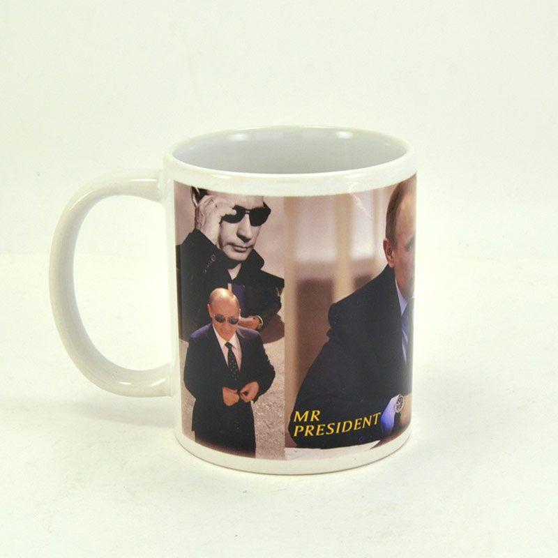"""Коллекционная сувенирная кружка с Путиным """"Mr. President"""" с подборкой фото"""