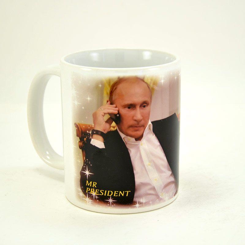 """Коллекционная сувенирная кружка с Путиным """"Mr. President"""""""