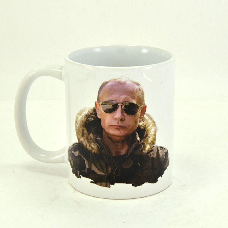 """Коллекционная сувенирная кружка """"Путин. Самый вежливый из людей"""""""