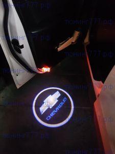 LED проекция логотипа в штатные места, на 2 двери