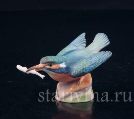 Зимородок с рыбкой, Royal Worcester, Великобритания, сер. 20 в.