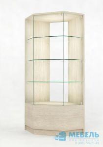 Угловая витрина для магазина