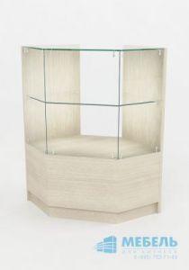Угловая стеклянная витрина