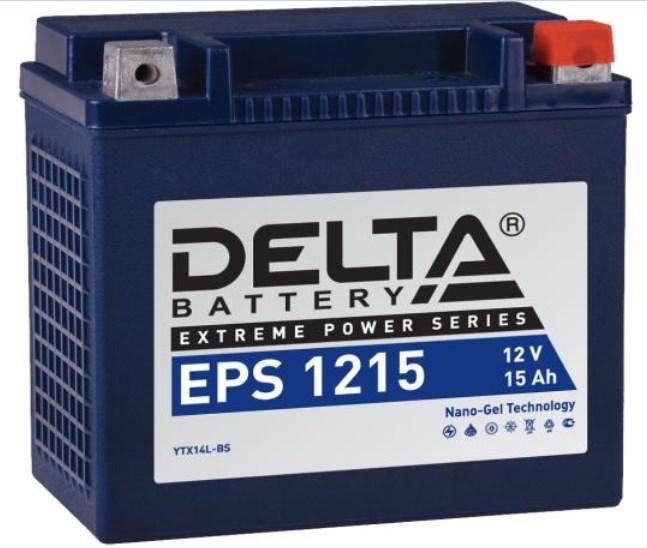 Мото аккумулятор АКБ Delta (Дельта) EPS 1215 15Ач о.п YTX14L-BS