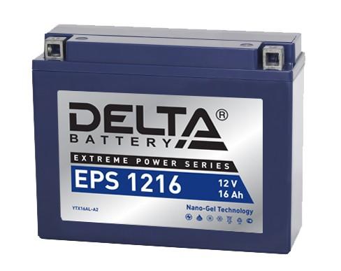 Мото аккумулятор АКБ Delta (Дельта) EPS 1216 16Ач о.п YTX16AL-A2