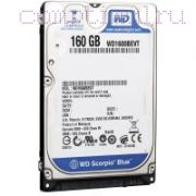 HDD для ноутбука (2,5'') 160GB/7200RPM — Western Digital