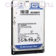HDD для ноутбука (2,5'') 160GB/7200RPM — Western Digital
