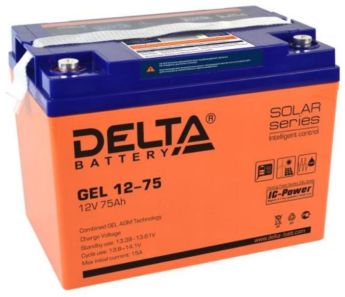 Аккумуляторная батарея Delta GEL 12-75